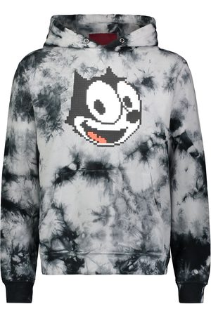 MOSTLY HEARD RARELY SEEN Men Hoodies - Graphic print tie-dye hoodie