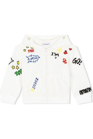 Dolce & Gabbana DG love-print zip hoodie