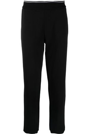 Armani Ribbed-edge track trousers