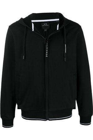 Armani Men Hoodies - Logo-print zip-up hoodie