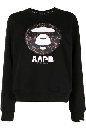 AAPE BY A BATHING APE Women Sweatshirts - Logo-print crew-neck sweatshirt