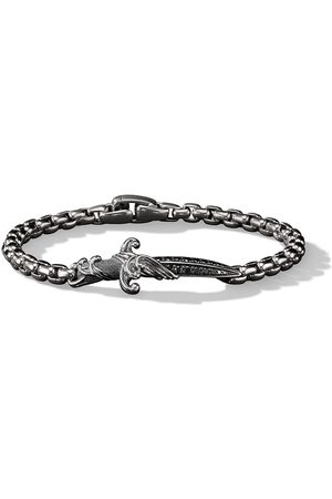 David Yurman Men Bracelets - Sterling silver Waves diamond dagger bracelet