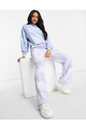ASOS Straight leg trackies in lilac tie-dye-Purple