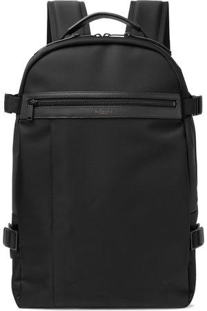 Saint Laurent City Trekking Leather-Trimmed Shell Backpack