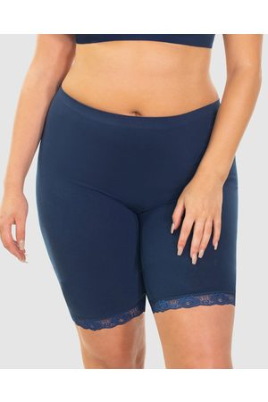 B Free Women Shorts - Mid Rise Anti Chafing Cotton Shorts - Briefs (Pacific ) Mid Rise Anti-Chafing Cotton Shorts