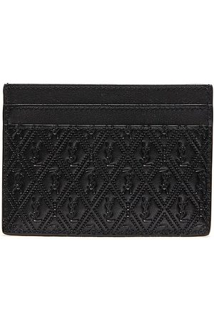 SAINT LAURENT Men Wallets - Monogram embossed leather cardholder