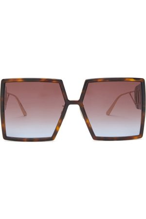 Dior 30montaigne Square Acetate Sunglasses - Womens - Tortoiseshell