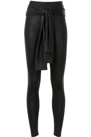 Lisa Von Tang Knotted-waist trousers