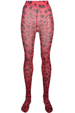 Philipp Plein Women Stockings - Leopard print tights