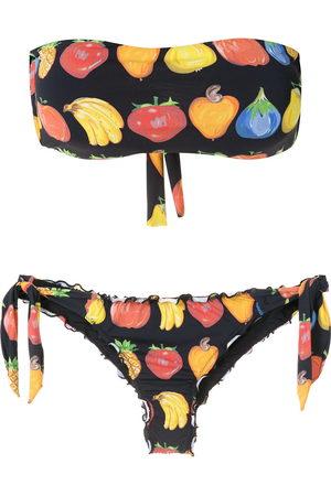 AMIR SLAMA Frufru bandeau bikini set