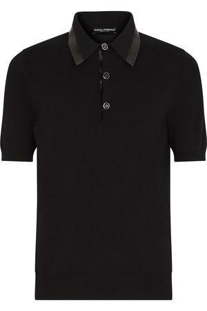 Dolce & Gabbana Logo-tape short-sleeve polo shirt