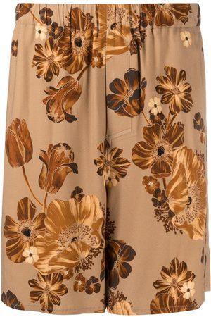 AMI Paris Floral-print Bermuda trousers