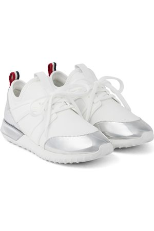 Moncler Meline leather-trimmed sneakers