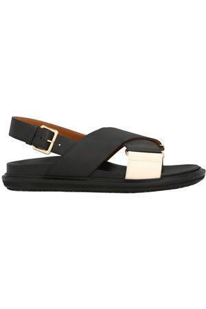 Marni Women Sandals - Fussbett leather sandals