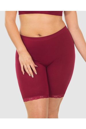 B Free Mid Rise Anti Chafing Cotton Shorts - Briefs (Burgundy) Mid Rise Anti-Chafing Cotton Shorts
