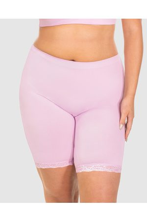 B Free Mid Rise Anti Chafing Cotton Shorts - Briefs (Lilac Snow) Mid Rise Anti-Chafing Cotton Shorts