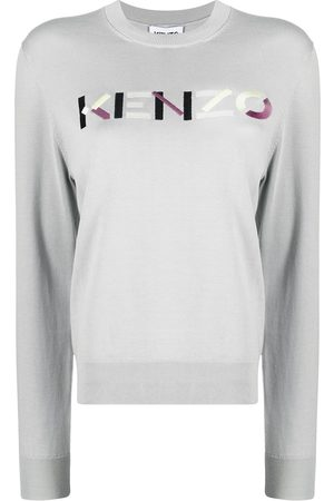 Kenzo Women Sweaters - Logo-embroidered knitted jumper