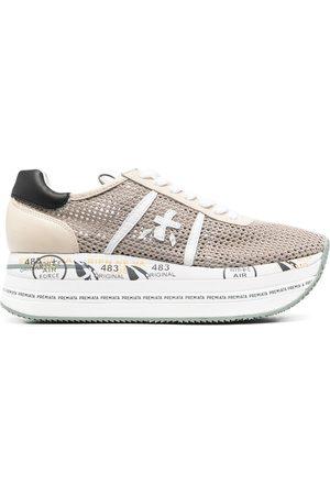 Premiata Women Platform Sneakers - Beth lace-up platform trainers