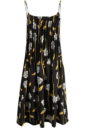 Opening Ceremony Rose-print pleated dress