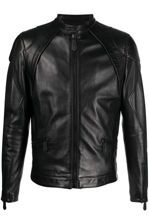 Philipp Plein Men Leather Jackets - Moto leather jacket