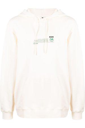 Msgm Men Hoodies - Fantastic Green Future-print hoodie