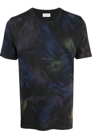 Saint Laurent Men Short Sleeve - Abstract print T-shirt