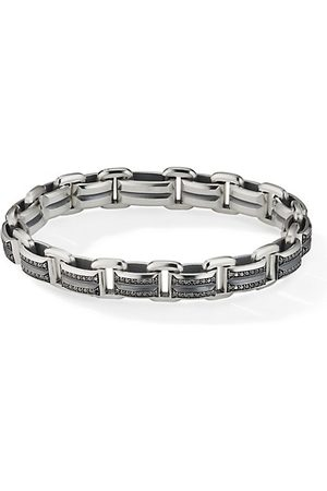 David Yurman Men Bracelets - Beveled Pavé Black Diamond Sterling Link Bracelet