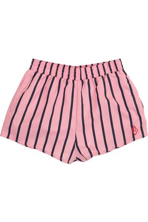 The Animals Observatory Boys Board Shorts - Puppy striped swim trunks