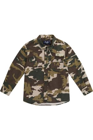 Il Gufo Boys Jackets - Camouflage cotton-blend jacket