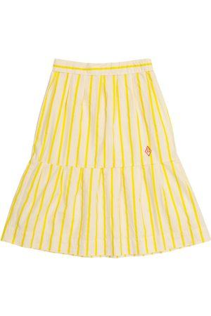 The Animals Observatory Girls Printed Skirts - Turkey striped cotton skirt