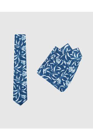 Buckle Men Neckties - Ali Wilkinson Tie & Pocket Square Set - Ties (Navy) Ali Wilkinson - Tie & Pocket Square Set