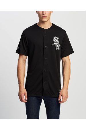Majestic Men Casual - Chest Logo Replica Jersey - Casual shirts ( Sox ) Chest Logo Replica Jersey