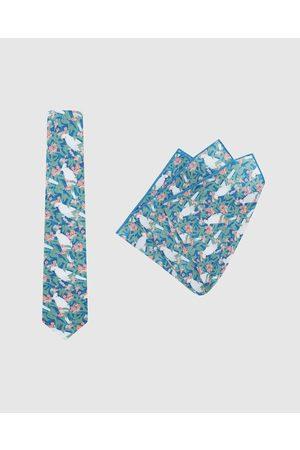 Buckle Men Neckties - Ali Wilkinson Tie & Pocket Square Set - Ties (Sage) Ali Wilkinson - Tie & Pocket Square Set