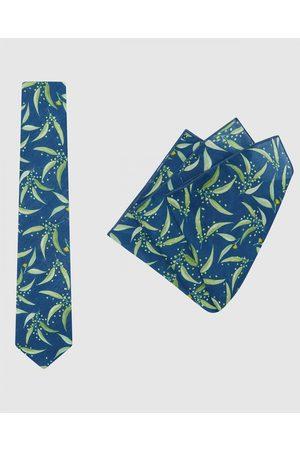 Buckle Ali Wilkinson Tie & Pocket Square Set - Ties (Teal) Ali Wilkinson - Tie & Pocket Square Set