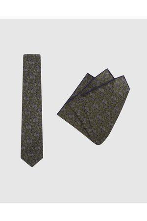 Buckle Jocelyn Proust Tie & Pocket Square Set - Ties (Olive) Jocelyn Proust - Tie & Pocket Square Set