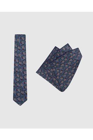 Buckle Men Neckties - Jocelyn Proust Tie & Pocket Square Set - Ties Jocelyn Proust - Tie & Pocket Square Set