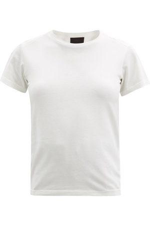 Moncler Logo-tab Cotton-jersey T-shirt - Womens