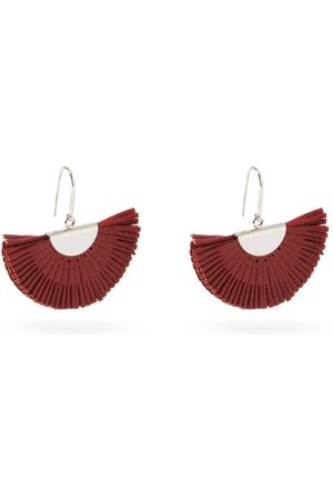 Isabel Marant Fan Leather Earrings - Womens