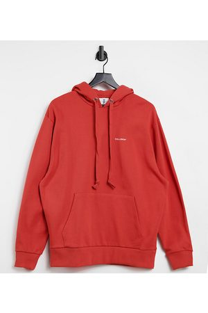 COLLUSION Unisex hoodie in bright red
