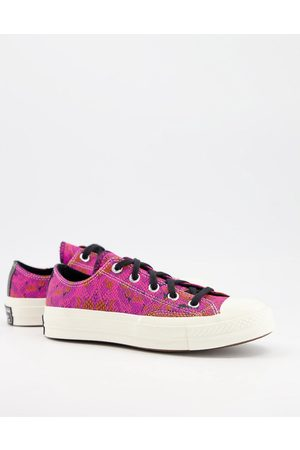 Converse Chuck '70 Ox leather snakeskin sneakers in pink