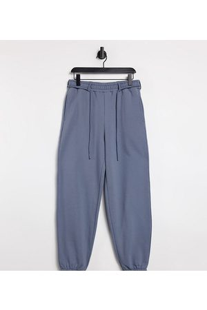 COLLUSION Unisex oversized trackies in charcoal co-ord-Grey