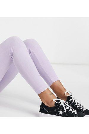 Topshop Acid wash leggings in lilac-Purple