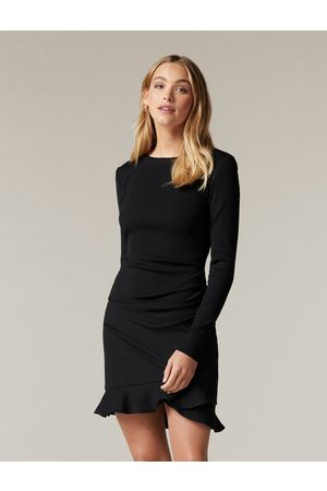 Forever New Annie Rib Long Sleeve Frill Dress