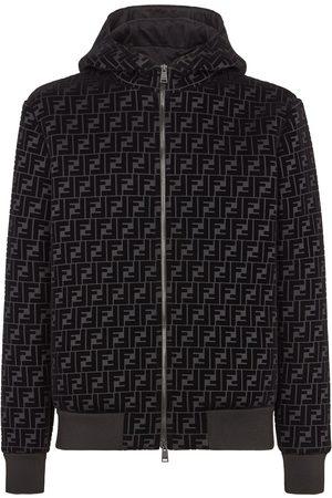 Fendi Velvet FF zipped hooded jacket