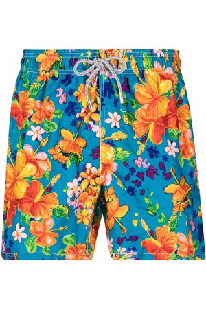 Mc2 Saint Barth Floral-print elasticated-waist swim shorts