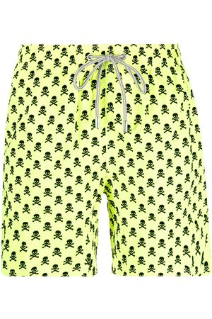 Mc2 Saint Barth Men Board Shorts - Skull-print swim shorts