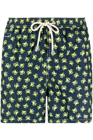 Mc2 Saint Barth Crabs-print elasticated-waist swim shorts