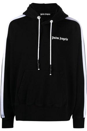 Palm Angels Men Hoodies - Side-stripe hoodie
