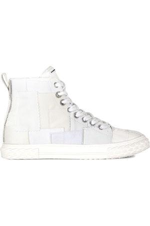 Giuseppe Zanotti Men Sneakers - Patchwork high-top sneakers