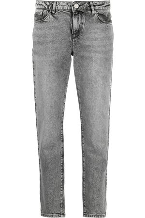 Karl Lagerfeld Women Straight - Mid rise Essential straight jeans